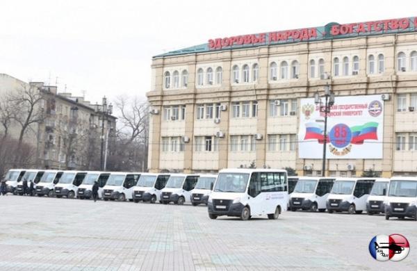 Частный перевозчик закупил 30новых микроавтобусов дляпассажиров Махачкалы&nbsp