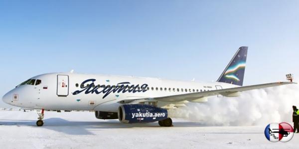 SSJ-100 увеличенной дальности прибыл в Якутск